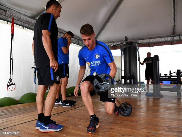 Andrea Pinamonti of FC Internazionale in action during the FC Internazionale training session on July 14 2017 in Reischach near Bruneck Italy