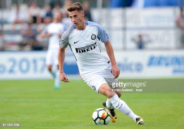 Andrea Pinamonti of FC Internazionale Milano in action during the Preseason Friendly match between FC Internazionale and Wattens on July 9 2017 in...