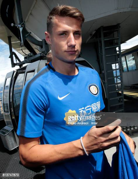 Andrea Pinamonti of FC Internazionale Milano visits Plan de Corones during the FC Internazionale training camp on July 13 2017 in Reischach near...