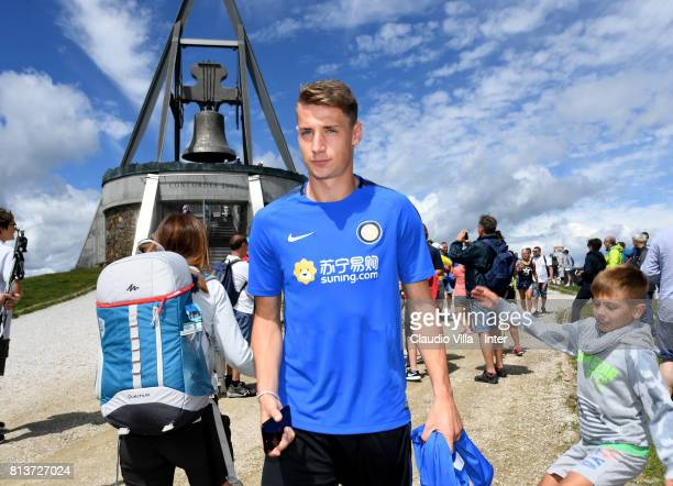 Andrea Pinamonti of FC Internazionale visits Plan de Corones during the FC Internazionale training camp on July 13 2017 in Reischach near Bruneck...