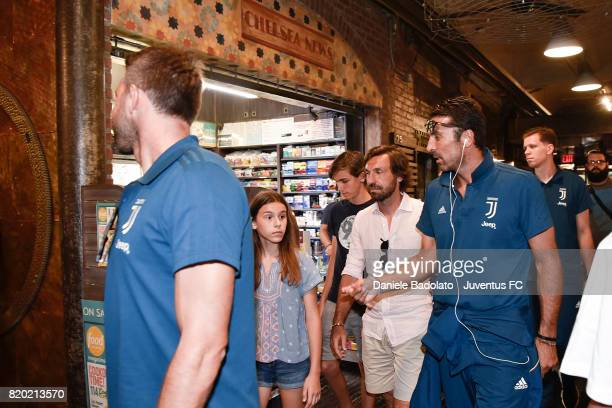 Andrea Pirlo and Gianluigi Buffon at Chelsea Market on July 20 2017 in New York City