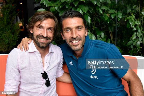 Andrea Pirlo and Gianluigi Buffon on July 20 2017 in New York City