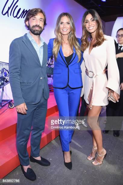 Andrea Pirlo Heidi Klum and Federica Nargi attend the Esmara By Heidi Klum Lidl Fashion Presentation at New York Fashion Week #Letswow at ArtBeam on...