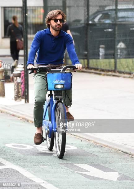 Andrea Pirlo is seen biking in SoHo on October 23 2017 in New York City