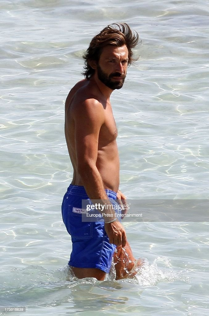 <a gi-track='captionPersonalityLinkClicked' href=/galleries/search?phrase=Andrea+Pirlo&family=editorial&specificpeople=198835 ng-click='$event.stopPropagation()'>Andrea Pirlo</a> is seen on July 15, 2013 in Ibiza, Spain.