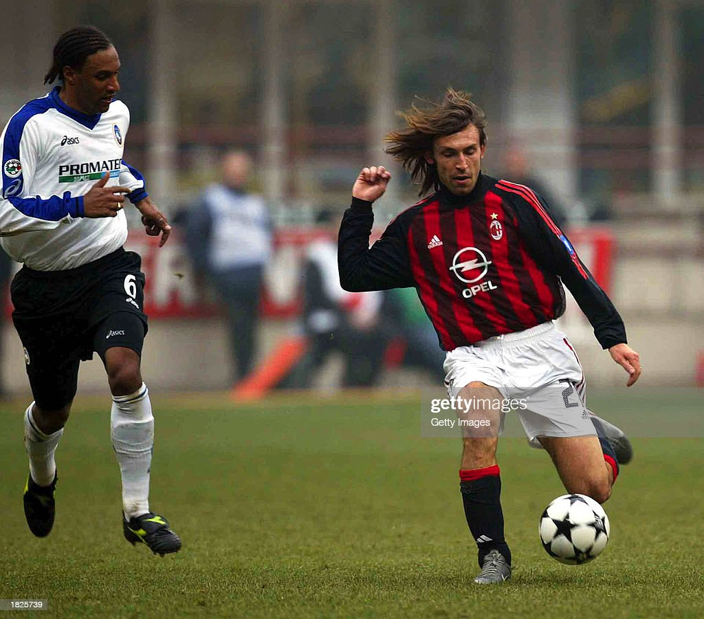 Andrea Pirlo of AC Milan in action