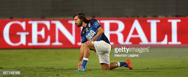 Andrea Pirlo of Italy before the EURO 2016 Group H qualifier match between Italy and Azerbaijan at Stadio Renzo Barbera on October 10 2014 in Palermo...