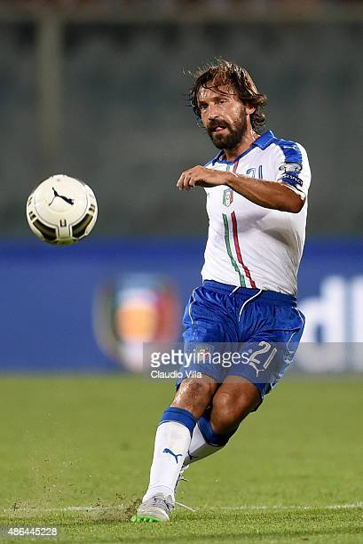 Andrea Pirlo of Italy during the UEFA EURO 2016 qualifier between Italy and Malta on September 3 2015 in Florence Italy