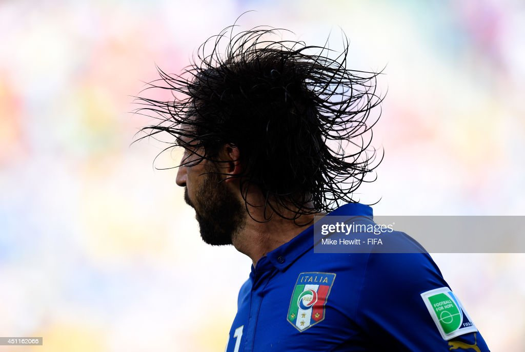 <a gi-track='captionPersonalityLinkClicked' href=/galleries/search?phrase=Andrea+Pirlo&family=editorial&specificpeople=198835 ng-click='$event.stopPropagation()'>Andrea Pirlo</a> of Italy in action during the 2014 FIFA World Cup Brazil Group D match between Italy and Uruguay at Estadio das Dunas on June 24, 2014 in Natal, Brazil.