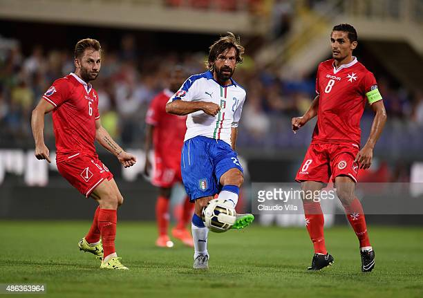 Andrea Pirlo of Italy in action during the EURO 2016 Group H Qualifier match between Italy and Malta during the UEFA EURO 2016 qualifier between...