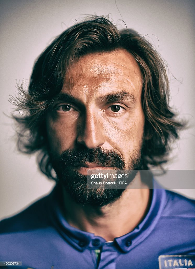 <a gi-track='captionPersonalityLinkClicked' href=/galleries/search?phrase=Andrea+Pirlo&family=editorial&specificpeople=198835 ng-click='$event.stopPropagation()'>Andrea Pirlo</a> of Italy poses during the official FIFA World Cup 2014 portrait session on June 6, 2014 in Mangaratiba, Brazil.