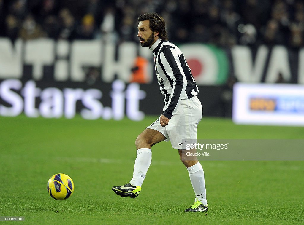 Andrea Pirlo of Juventus FC in action during the Serie A match between Juventus FC and ACF Fiorentina at Juventus Arena on February 9, 2013 in Turin, Italy.
