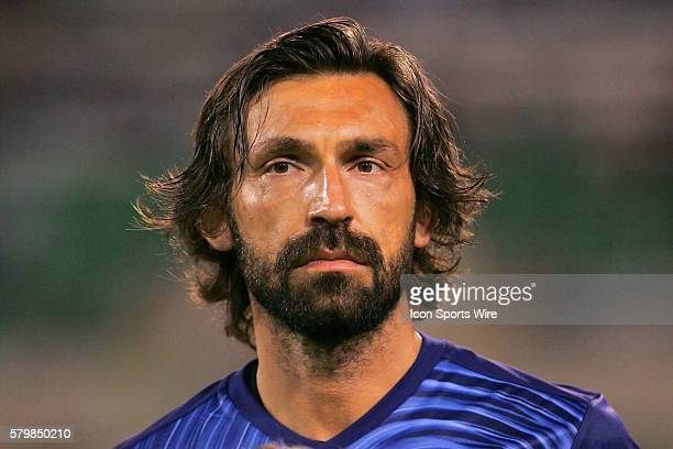 Andrea Pirlo of NYC FC before the preseason MLS match between the New York City FC and the Montreal Impact at Florida Citrus Bowl Stadium in St...