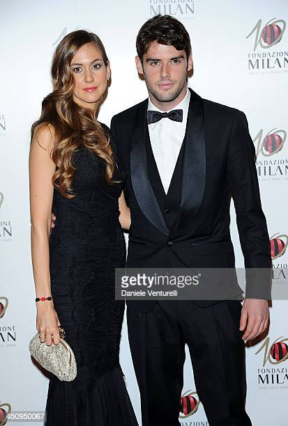 Andrea Poli and Stephanie attend Fondazione Milan 10th Anniversary Gala Red Carpet on November 20 2013 in Milan Italy