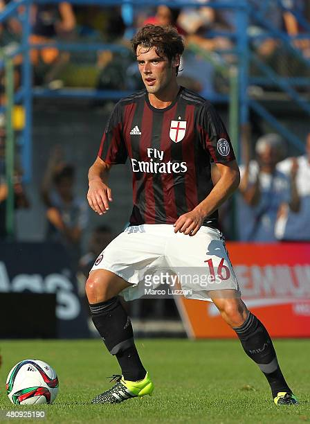 Andrea Poli of AC Milan in action during the preseason friendly match between AC Milan and Legnano on July 14 2015 in Solbiate Arno Italy