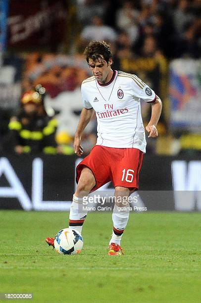 Andrea Poli of AC Milan in action during the Serie A match between Bologna and AC Milan at Stadio Renato Dall'Ara on September 25 2013 in Bologna...