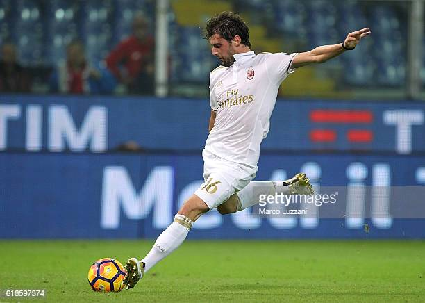 Andrea Poli of AC Milan in action during the Serie A match between Genoa CFC and AC Milan at Stadio Luigi Ferraris on October 25 2016 in Genoa Italy
