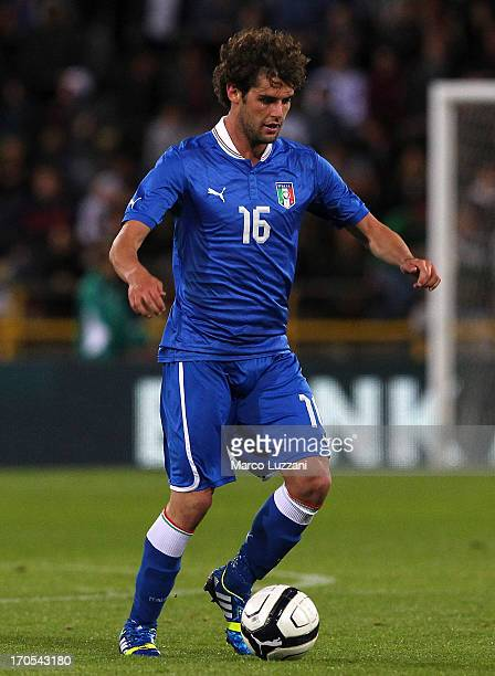 Andrea Poli of Italy in action during the international friendly match between Italy and San Marino at Stadio Renato Dall'Ara on May 31 2013 in...