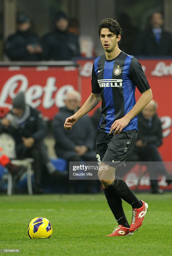 <a gi-track='captionPersonalityLinkClicked' href=/galleries/search?phrase=Andrea+Ranocchia&family=editorial&specificpeople=4085825 ng-click='$event.stopPropagation()'>Andrea Ranocchia</a> of FC Inter Milan during the Serie A match between FC Internazionale Milano and US Citta di Palermo at San Siro Stadium on December 2, 2012 in Milan, Italy.