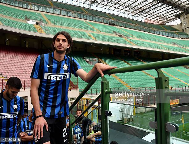 Andrea Ranocchia of FC Internazionale attends Inter Night at Stadio Giuseppe Meazza on May 26 2015 in Milan Italy