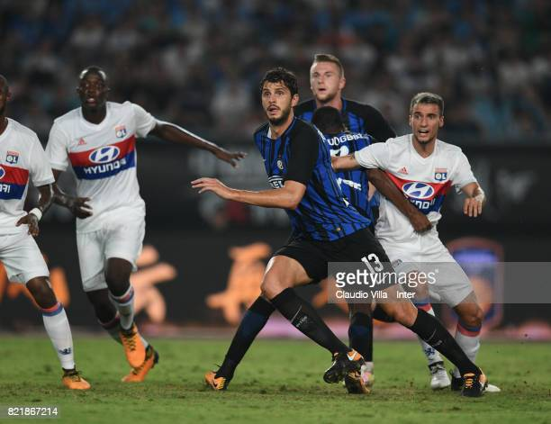 Andrea Ranocchia of FC Internazionale in action during the 2017 International Champions Cup match between FC Internazionale and Olympique Lyonnais at...