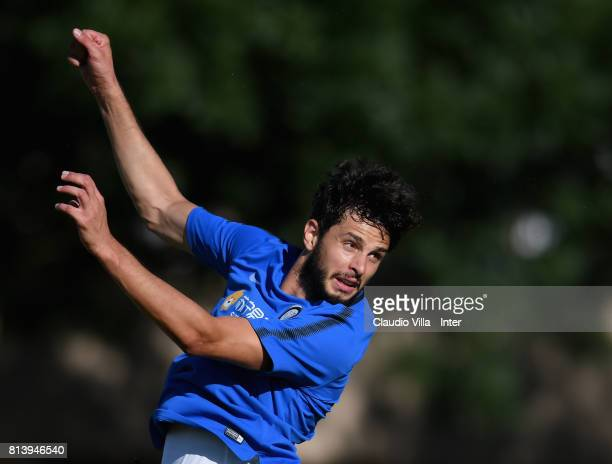 Andrea Ranocchia of FC Internazionale in action during the FC Internazionale training session on July 13 2017 in Reischach near Bruneck Italy
