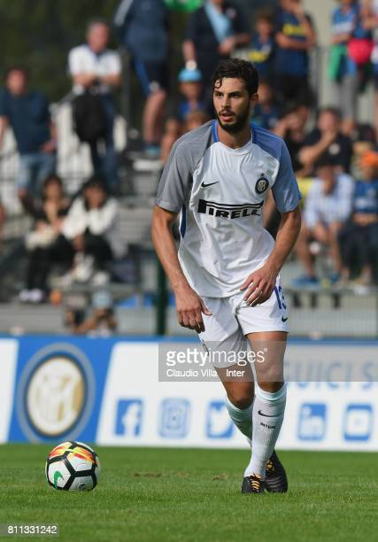 Andrea Ranocchia of FC Internazionale in action during the Preseason Friendly match between FC Internazionale and Wattens on July 9 2017 in Reischach...