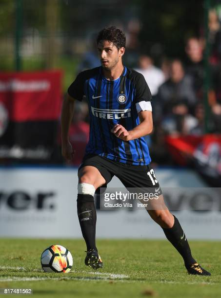 Andrea Ranocchia of FC Internazionale in action during the PreSeason Friendly match between FC Internazionale and Nurnberg on July 15 2017 in Bruneck...