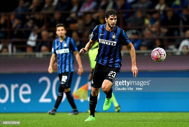 Andrea Ranocchia of FC Internazionale in action during the Serie A match between FC Internazionale Milano and ACF Fiorentina at Stadio Giuseppe...