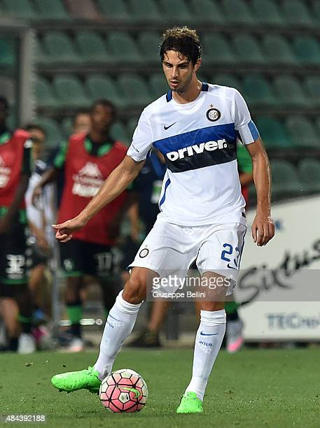 Andrea Ranocchia of FC Internazionale in action during the TIM preseason tournament match between FC Internazionale and US Sassuolo Calcio at Mapei...
