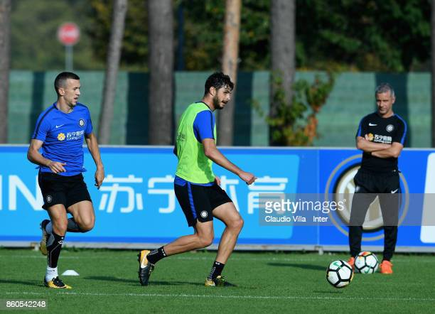 Andrea Ranocchia of FC Internazionale in action during the training session at Suning Training Center at Appiano Gentile on October 12 2017 in Como...