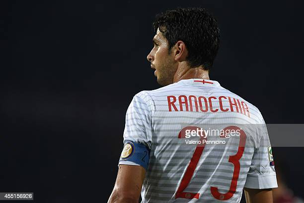 Andrea Ranocchia of FC Internazionale Milano looks on during the Serie A match between Torino FC and FC Internazionale Milano at Stadio Olimpico di...