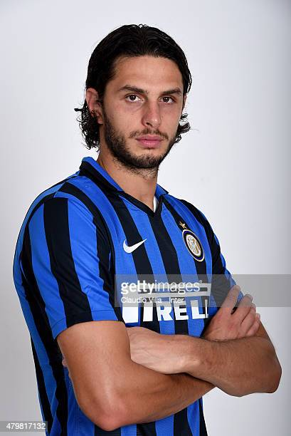 Andrea Ranocchia of FC Internazionale poses for his Serie A 20152016 season official headshot at Riscone di Brunico on July 7 2015 in Bruneck Italy