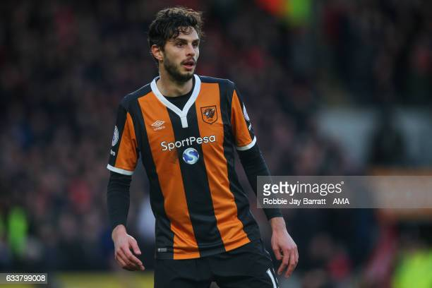 Andrea Ranocchia of Hull City during the Premier League match between Hull City and Liverpool at KCOM Stadium on February 4 2017 in Hull England