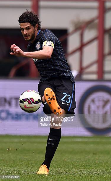 Andrea Ranocchia of Internazionale Milano in action during the Serie A match between FC Internazionale Milano and AC Chievo Verona at Stadio Giuseppe...