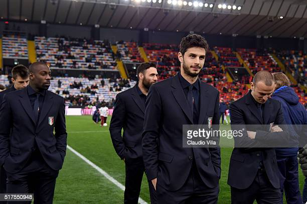 Andrea Ranocchia of Italy attends the international friendly match between Italy and Spain at Stadio Friuli on March 24 2016 in Udine Italy