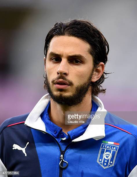 Andrea Ranocchia of Italy poses prior to the international friendly match between Portugal and Italy at Stade de Geneve on June 16 2015 in Geneva...