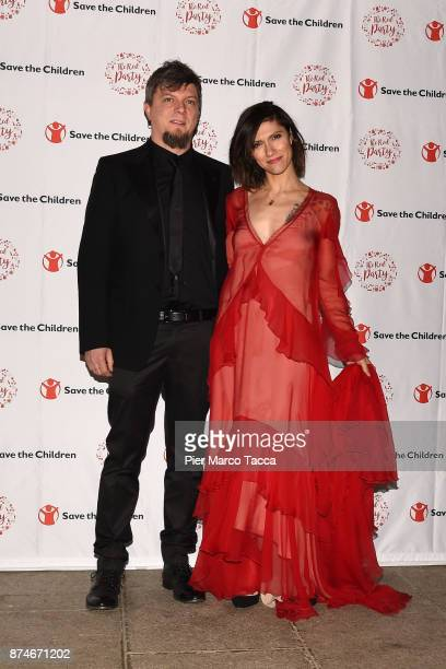 Andrea Rigonat and Elisa Toffoli attend Save The Children Charity Party on November 15 2017 in Milan Italy