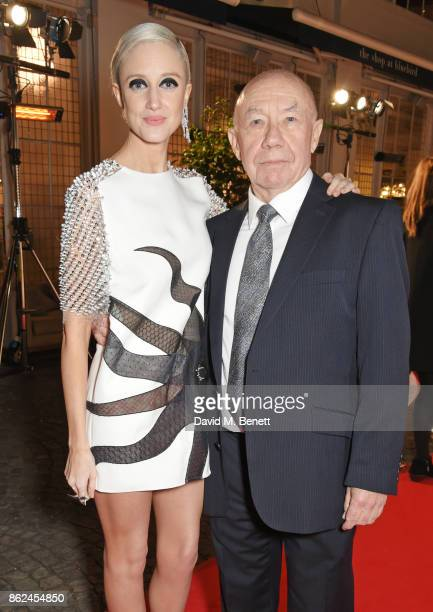Andrea Riseborough and Adrian McLoughlin attend the UK Premiere of 'The Death Of Stalin' at The Curzon Chelsea on October 17 2017 in London England