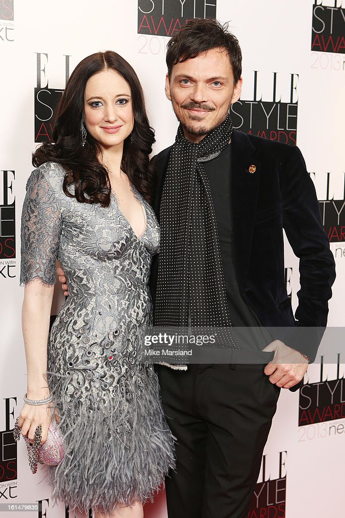 Andrea Riseborough and Matthew Williamson attend the Elle Style Awards 2013 at The Savoy Hotel on February 11, 2013 in London, England.