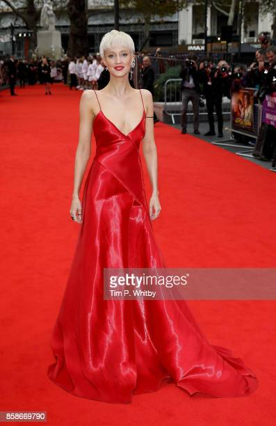 Andrea Riseborough attends the American Express Gala European Premiere of 'Battle of the Sexes' during the 61st BFI London Film Festival on October 7...