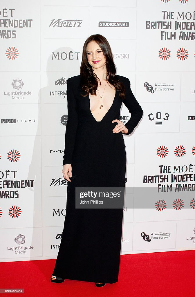 <a gi-track='captionPersonalityLinkClicked' href=/galleries/search?phrase=Andrea+Riseborough&family=editorial&specificpeople=4395380 ng-click='$event.stopPropagation()'>Andrea Riseborough</a> attends the British Independent Film Awards at Old Billingsgate Market on December 9, 2012 in London, England.