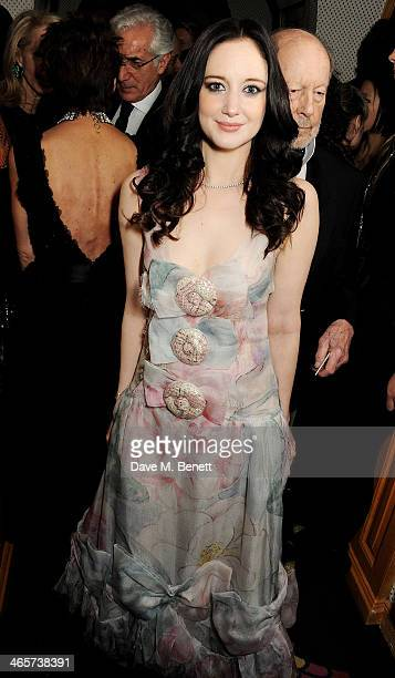Andrea Riseborough attends the Charles Finch and Chanel PreBAFTA cocktail party and dinner at Annabel's on February 9 2013 in London England