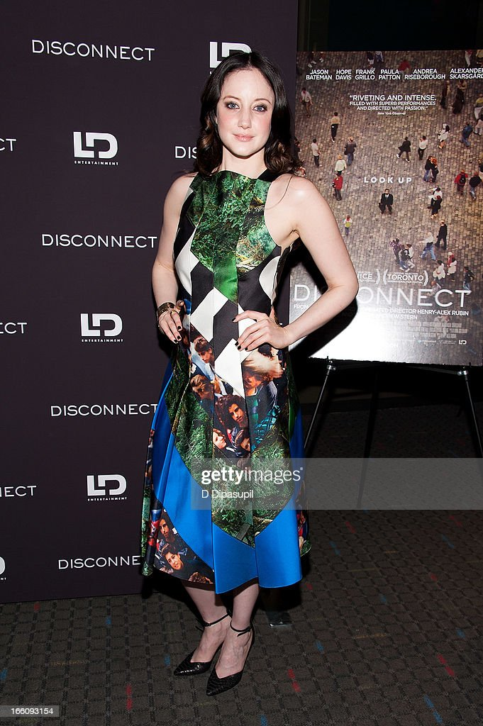 Andrea Riseborough attends the 'Disconnect' New York Special Screening at SVA Theater on April 8, 2013 in New York City.