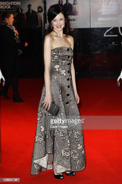 Andrea Riseborough attends the European premiere of Brighton Rock held at the Odeon West End on February 1 2011 in London England