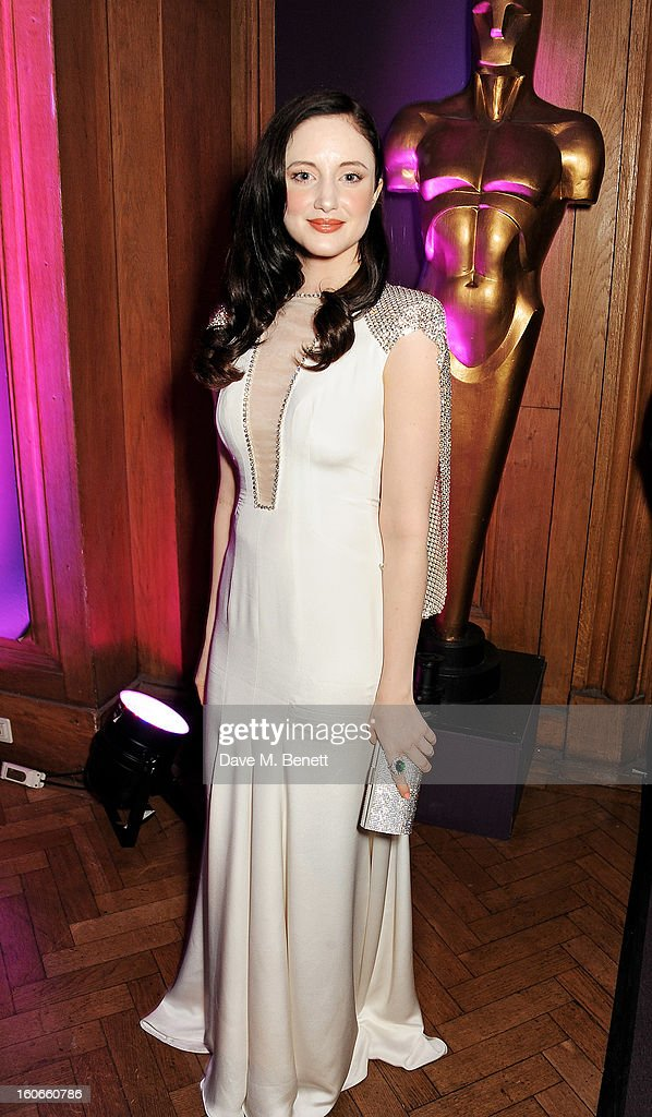 Andrea Riseborough attends the London Evening Standard British Film Awards supported by Moet & Chandon and Chopard at the London Film Museum on February 4, 2013 in London, England.