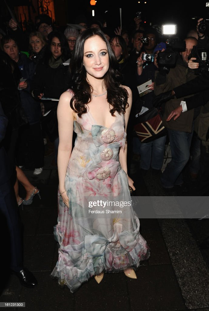 Andrea Riseborough attends the pre-BAFTA dinner hosted by Charles Finch and Chanel at Annabels on February 9, 2013 in London, England.