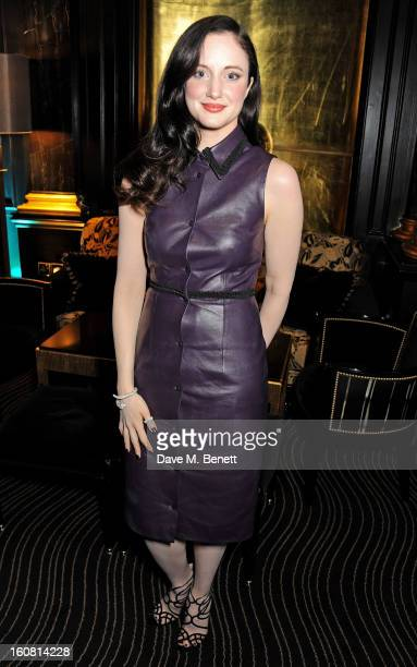 Andrea Riseborough attends the PreBAFTA Party hosted by EE and Esquire ahead of the 2013 EE British Academy Film Awards at The Savoy Hotel on...