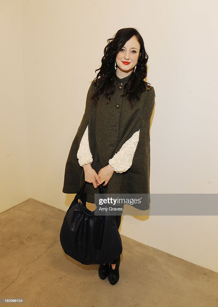 Andrea Riseborough attends the Samuel Bayer Ace Gallery Exhibit Opening, presented by Panavision at Ace Gallery on March 2, 2013 in Beverly Hills, California.
