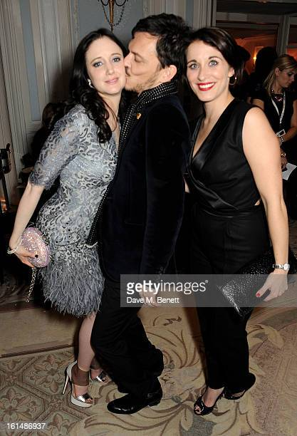 Andrea Riseborough Matthew Williamson and Vicky McClure attend the after party following the Elle Style Awards at The Savoy Hotel on February 11 2013...